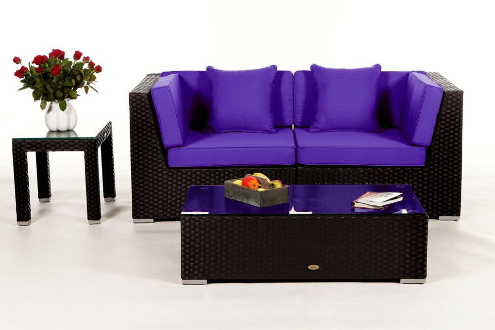 berz ge in verschiedenen farben f r die polster der rattan lounge sunrise. Black Bedroom Furniture Sets. Home Design Ideas