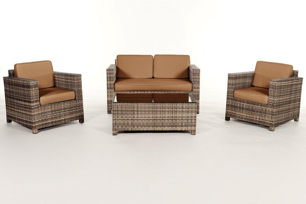 rattan lounge natural gartenm bel set summertime. Black Bedroom Furniture Sets. Home Design Ideas