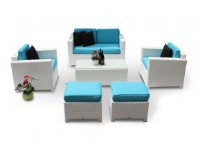 polsterbezug passend zu der weissen rattan lounge diamond berzugsset in t rkis. Black Bedroom Furniture Sets. Home Design Ideas