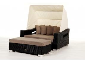 bank mit polster passend zur rattan liege enjoy. Black Bedroom Furniture Sets. Home Design Ideas