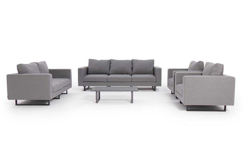 Grand canapé Carpe diem - meubles en tissu gris - 7 places lounge