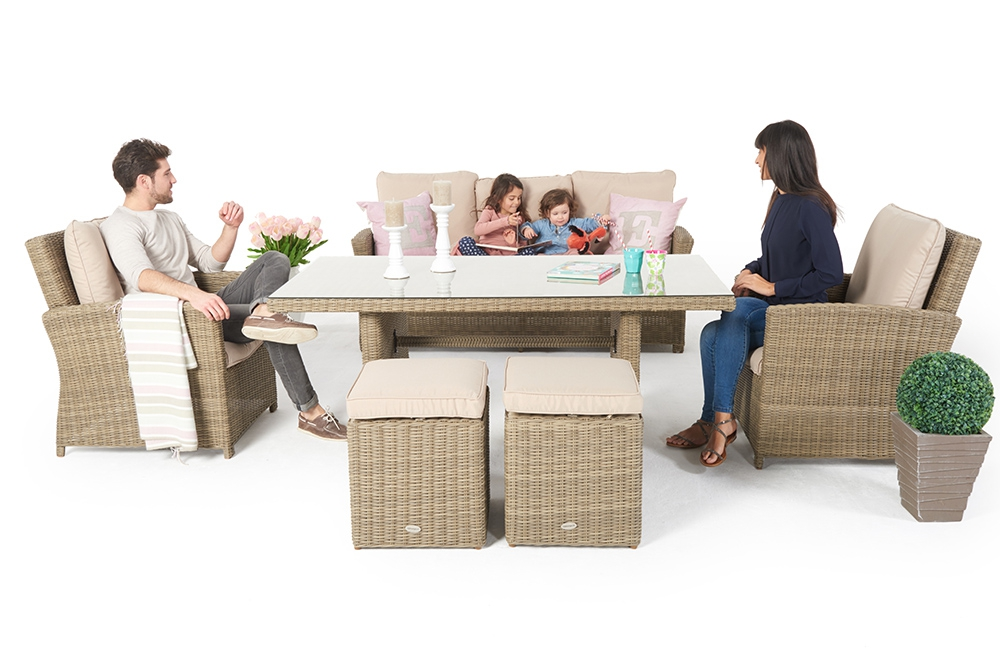 Mobilier de jardin - set table à manger en rotin - Mandarin ...