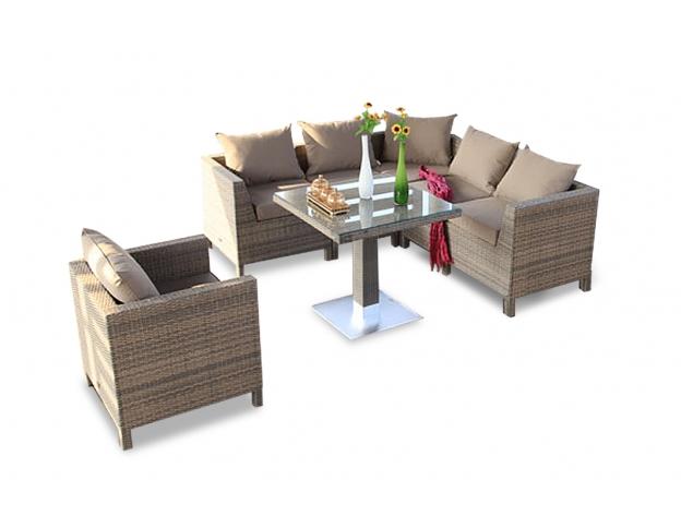 Das trendbewusste Rattan Tisch Lounge Set