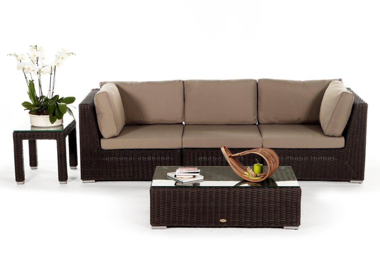 Verführerisch 3 Er Sofa Beste Wahl Gartenmöbel: Rattan Lounge Allegra 3er