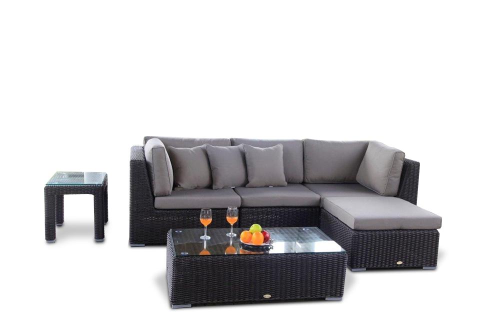 Schon Rattan Gartenmöbel: Allegra 4er Lounge Mit Deko