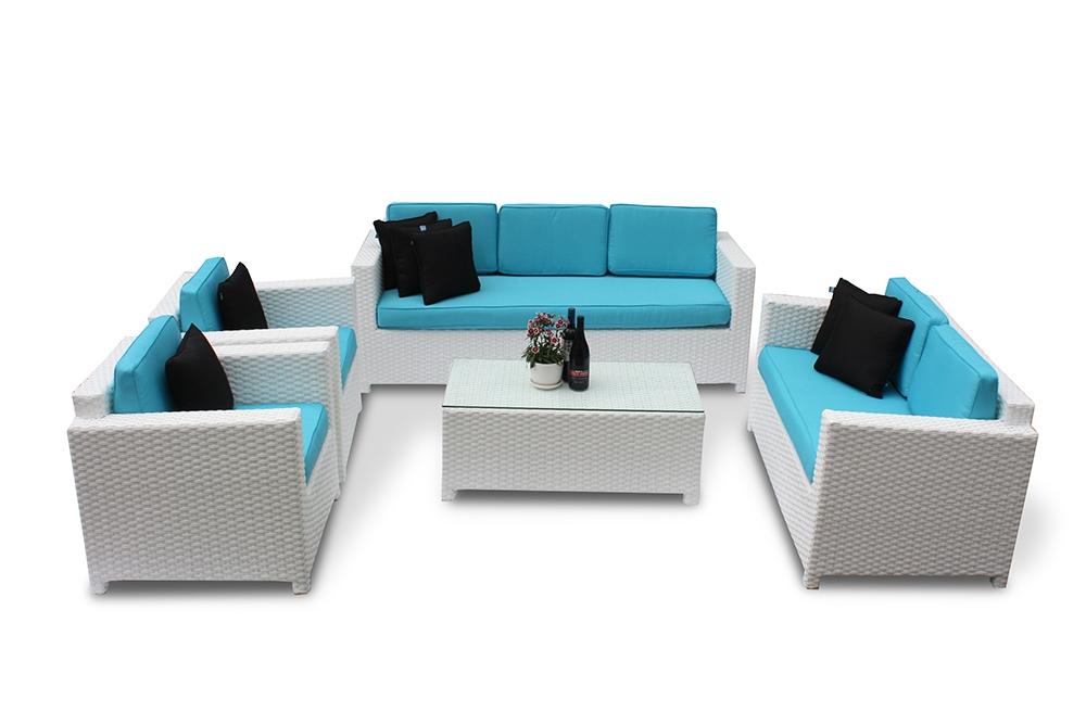 Sandman Rattan Lounge Möbel Polsterbezug Lime