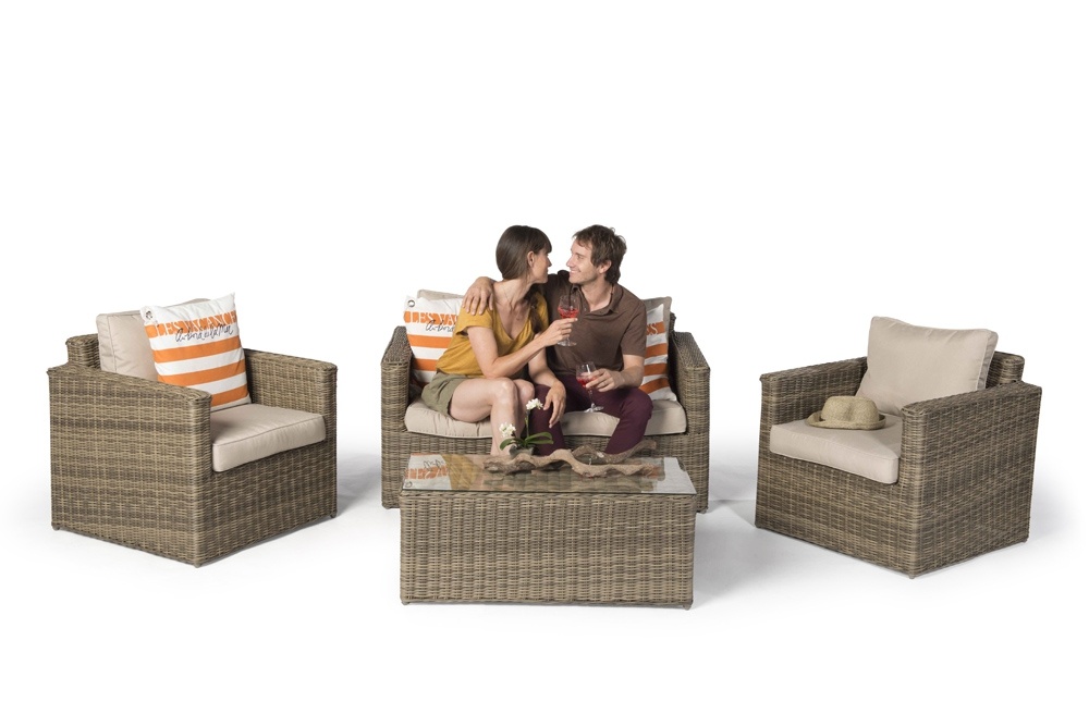 rattan lounge st james natural round high quality. Black Bedroom Furniture Sets. Home Design Ideas