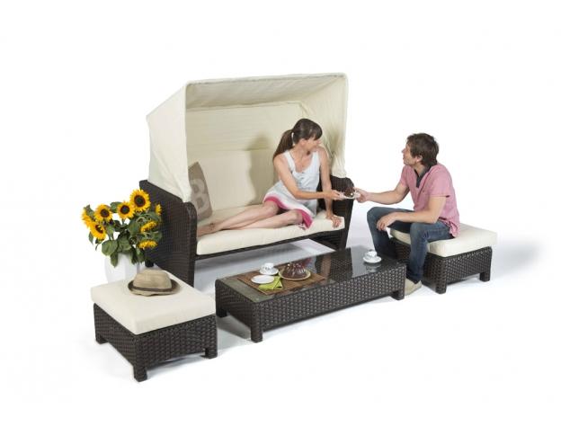 Superb Rattan Lounge Binz Sun Chair Brown