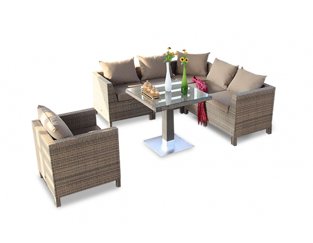 Entzuckend Awesome Rattan Lounge Garden Furniture Set Gaia Sandstorm With Gartenmbel  Rattan Lounge
