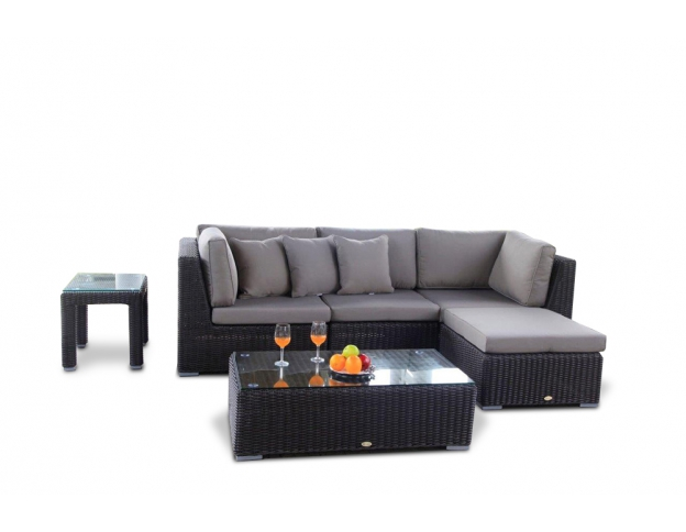 lounge gartenmoebel polyrattan dekoration. Black Bedroom Furniture Sets. Home Design Ideas