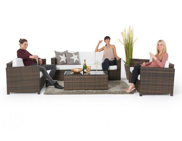 Rattan lounge braun  Schöne, moderen Rattan Lounge in Braun