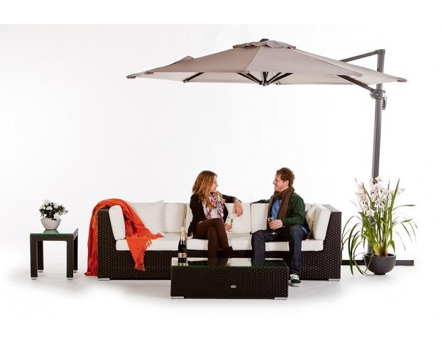 Las Lomas Rattan Garden Lounge Black