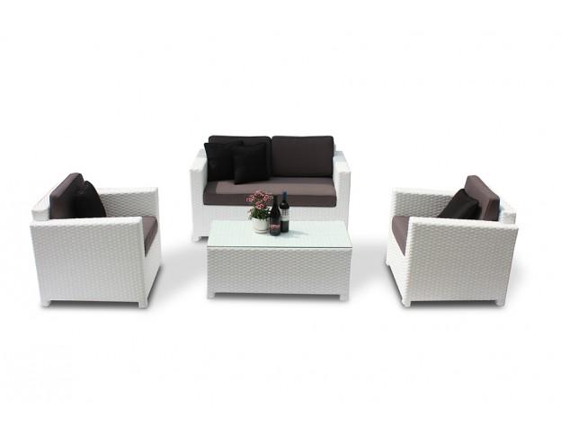 Rattan lounge grau  Rattan Lounge grau geigenet für den Innen- und den Aussenbereich