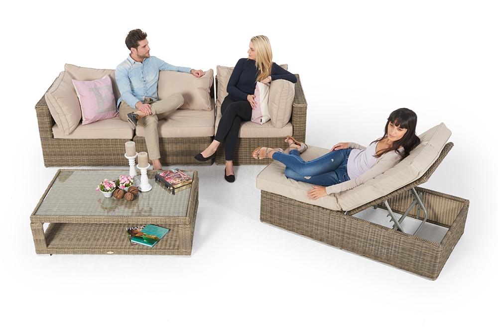 ... Rattan Gartenmöbel: Allegra 4er Lounge Mit Deko