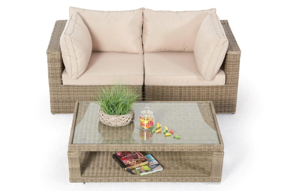 ... Rattan Gartenmöbel: Allegra 4er Lounge Mit Deko ...