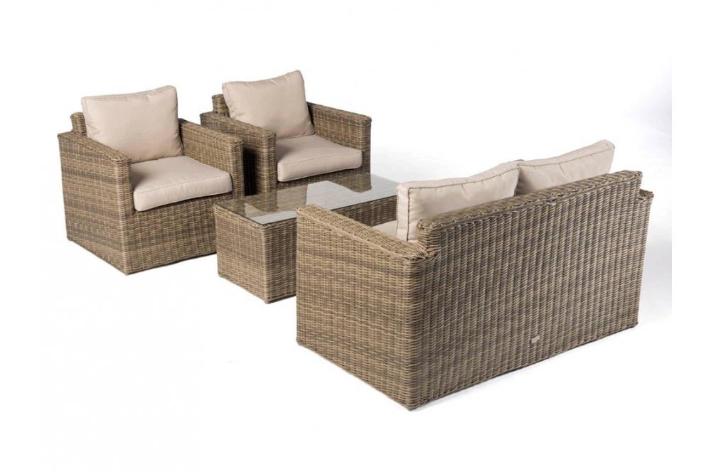 rattan lounge medina natural round high quality garden. Black Bedroom Furniture Sets. Home Design Ideas