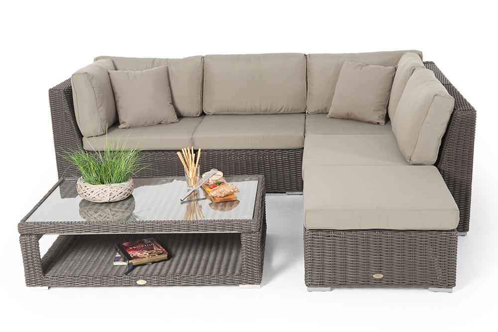 Gut ... Rattan Gartenmöbel: Allegra 4er Lounge Mit Deko ...
