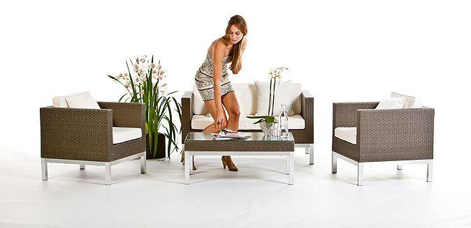 Rattan Lounge Gartenmöbel