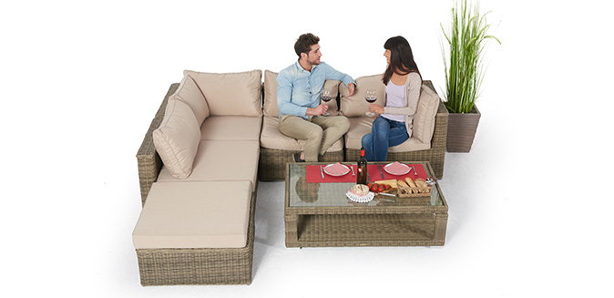 Rattan Lounge Zoey Natural