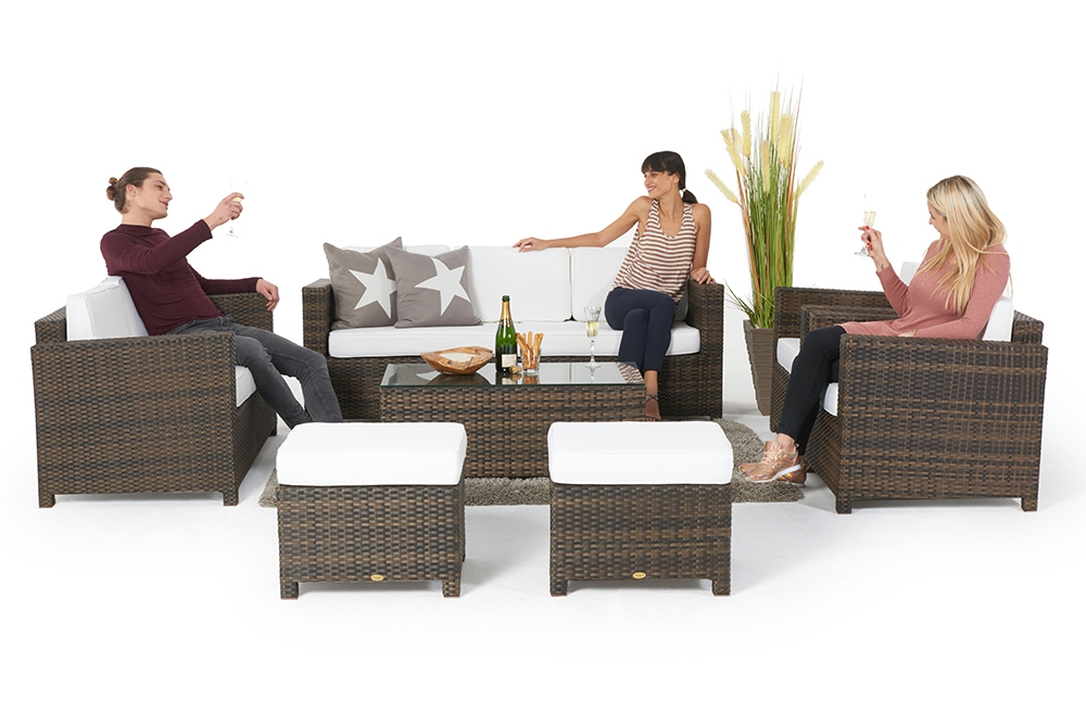 Rattan, Gartenmöbel, Rattan Lounge
