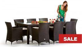 Rattan Tisch Set